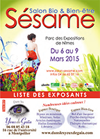 catalogue exposants sesame 2015
