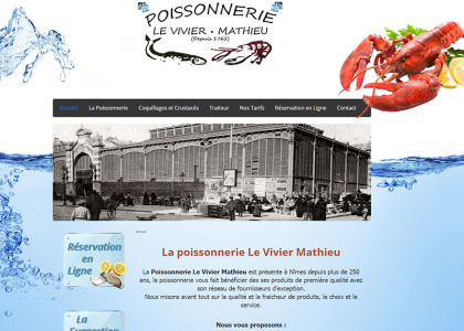 Site web Poissonnerie Le Vivier
